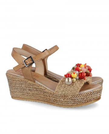 Porronet 2740 beaded wedge sandal