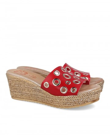 Porronet 2737 perforated wedge sandal