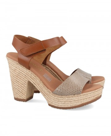 Heeled sandal Catchalot 4888-1 brown and taupe
