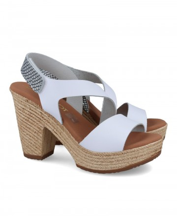 White sandals with heel Catchalot 4889-1