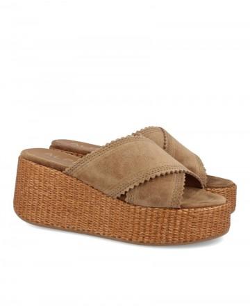 Alpe 4672 flatform sandal type clog