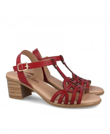 Red heeled sandal Andares 233226