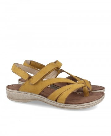 Yellow sandals for women Walk And Fly 7325-16160