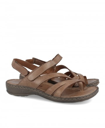 Women's flat sandals Walk & Fly 7325-16160 taupe