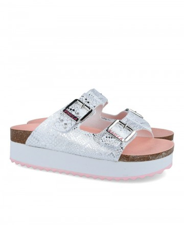 Pablosky 858150 double buckle sandal