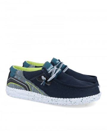 Sports moccasin Dude shoes Wally Hawk Space Blue