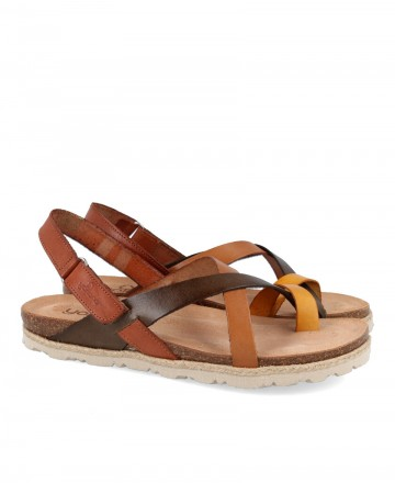 Yokono Cyprus 718 leather flat sandals
