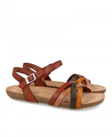 Yokono Ibiza 120 leather flat sandals