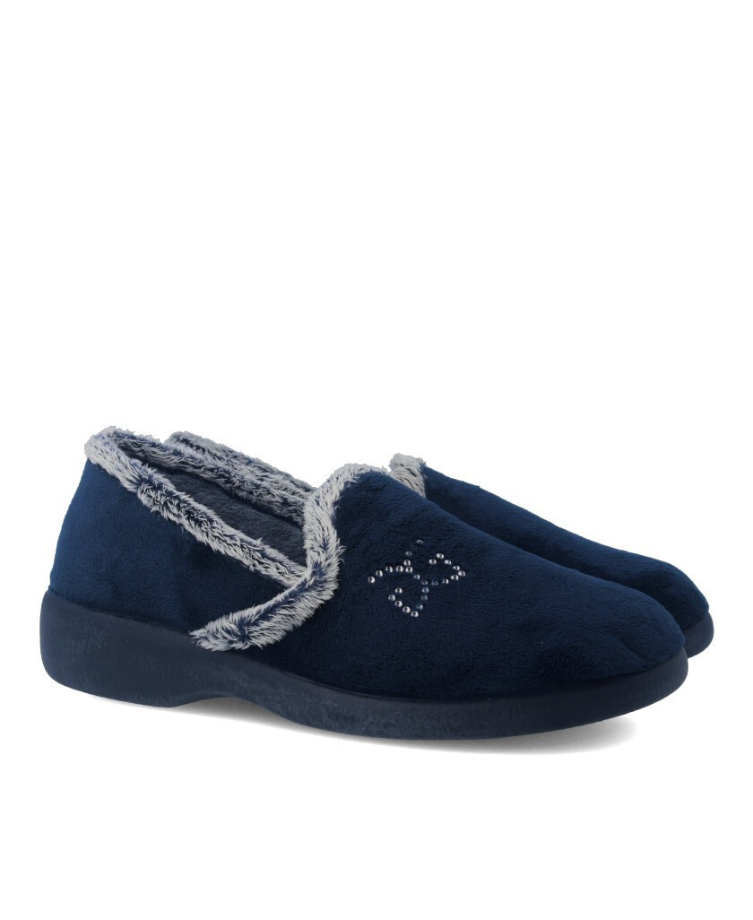 Garzon 3843.247 Navy Blue closed Home Slippers