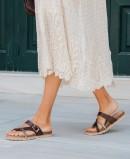 Yokono Chipre 101 flat sandals brown