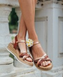 Porronet 2711 cross-strap sandal