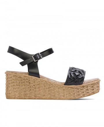 Porronet Telma 2730 black wedge sandals
