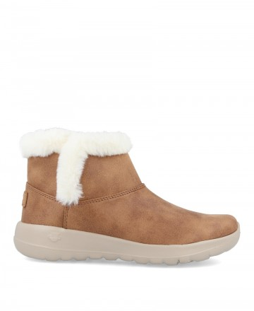 Warm brown ankle boots Skechers On the Go 144013
