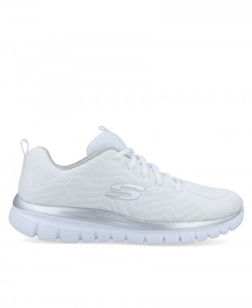 Skechers Graceful 12615 white trainers