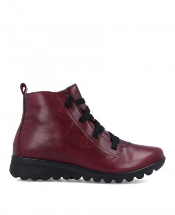 Burgundy casual style IMAC 806260 ankle boots