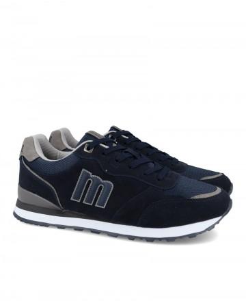 Zapatillas deportivas hombre Mustang Porland 84363 azul marino