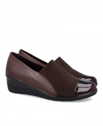 Moccasin with wedge Pitillos 1022