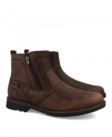 Botas de cremallera de hombre Traveris 2194 marrón