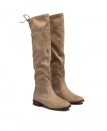 Bryan Jeanette over the knee boots beige 4905